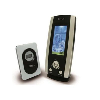 Centrale météo-hygromètre compacte avec LCD couleur et capteurs sans fil 185x90MM - OTIO