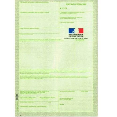 1 Certificat PHYTOSANITAIRE
