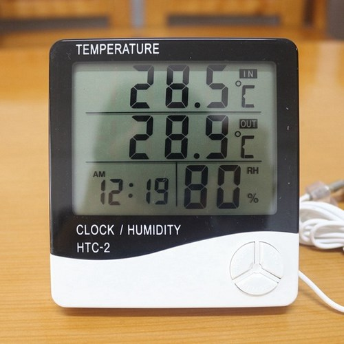 Digital lcd thermometer hygrometer electronic temperature humidity meter weather station indoor outdoor tester alarm clock htc jpg 640x640