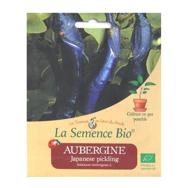 Graines bio d aubergine japanese pickling 20 gn