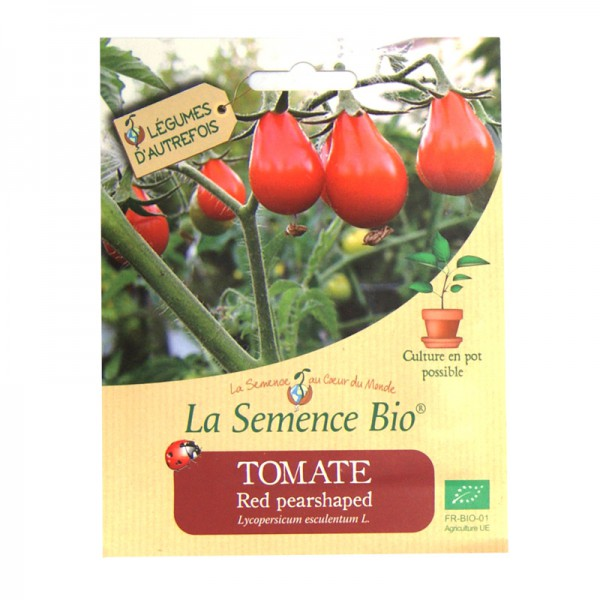 Graines bio de tomate red pearshaped 20gn