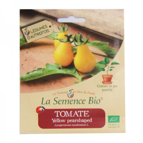 Graines bio de tomate yellow pearshaped 20gn