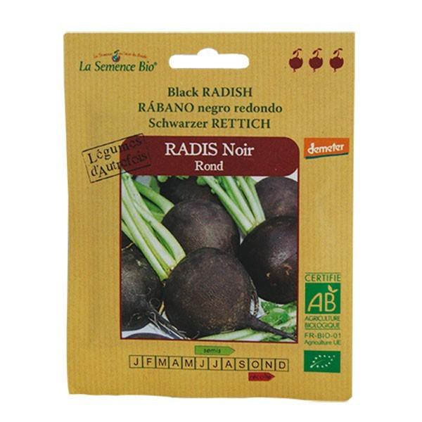 Graines bio radis noir rond demeter