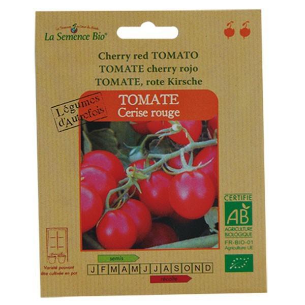 Graines bio tomate cerise rouge