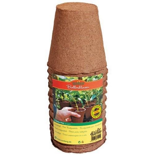 Lot de 12 pots biodegradable rond 11 cm