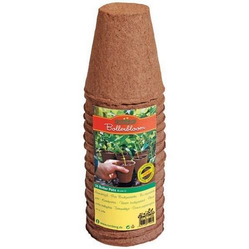 16 biodegradable pots Ø 8cm