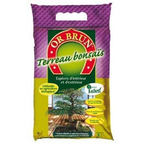 Or brun terreau bonsai 5L