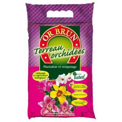 Or brun terreau orchidees 5l