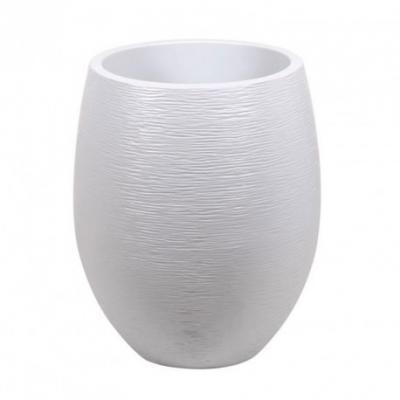 Pot egg Graphit Blanc cérusé GM 50x60cm 53L