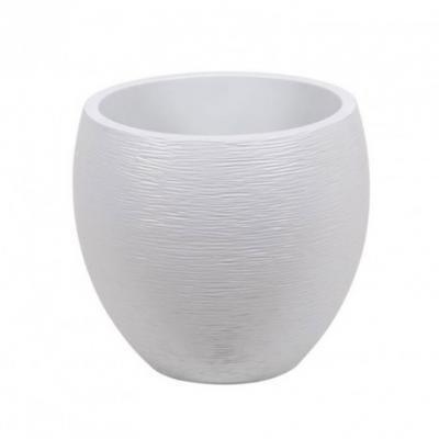 Pot egg Graphit Blanc cérusé PM 50x45cm 46L