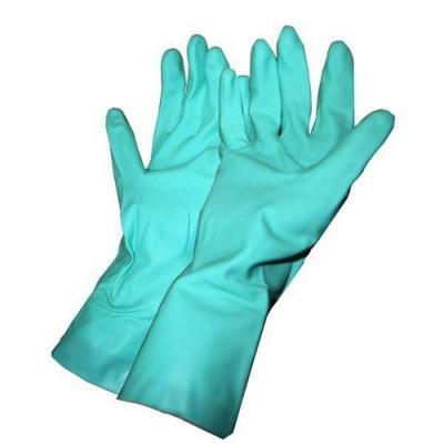 Paire de gants nitrile vert 31cm spécial phyto