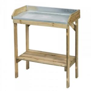 Table de rempotage h97x85x42cm zinc pin du nord classe iii