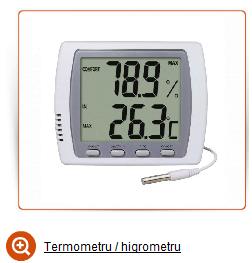 Termometro higrometro vente orquideas plantas