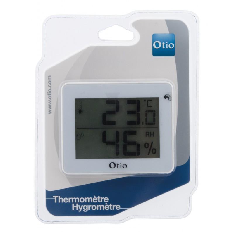 Thermometre hygrometre d interieur avec ecran lcd blanc otio 3