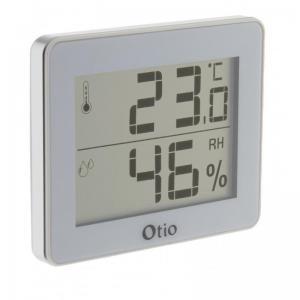 Thermometre hygrometre d interieur avec ecran lcd blanc otio