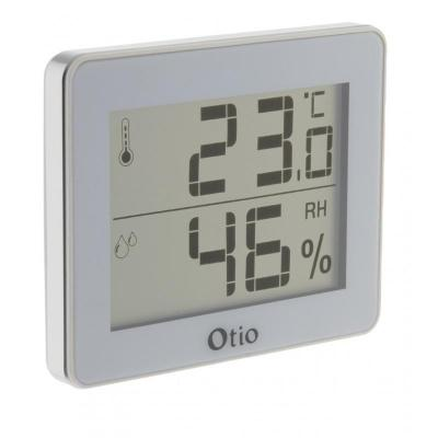 Thermomètre - Hygromètre d'intérieur avec écran LCD Blanc - Otio