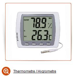 Thermometre hygrometre vente pour orchidee plante serre